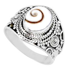 4.29cts natural white shiva eye 925 silver solitaire ring jewelry size 8 r58293