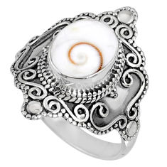 4.22cts natural white shiva eye 925 silver solitaire ring jewelry size 8 r61051