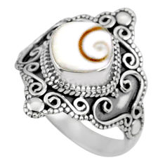 3.28cts natural white shiva eye 925 silver solitaire ring jewelry size 8 r61071