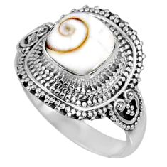 3.18cts natural white shiva eye 925 silver solitaire ring jewelry size 8 r61089