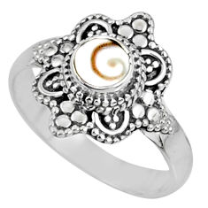 0.91cts natural white shiva eye 925 silver solitaire ring jewelry size 8 r61127