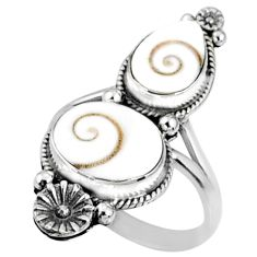 6.74cts natural white shiva eye 925 silver solitaire ring jewelry size 8 r67308