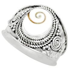 4.30cts natural white shiva eye 925 silver solitaire handmade ring size 8 r74731
