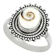4.30cts natural white shiva eye 925 silver solitaire ring jewelry size 9 r52447