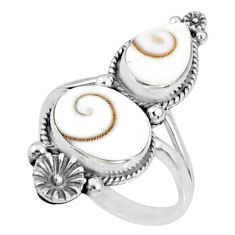 7.07cts natural white shiva eye 925 silver solitaire ring jewelry size 9 r67309