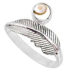 0.80cts natural white shiva eye 925 silver solitaire ring jewelry size 9 r67467