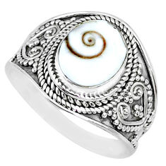 4.07cts natural white shiva eye 925 silver solitaire handmade ring size 9 r74717