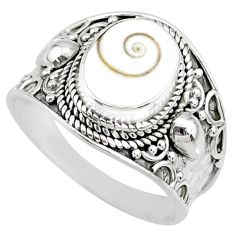 4.02cts natural white shiva eye 925 silver solitaire handmade ring size 9 r74729