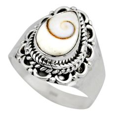 2.44cts natural white shiva eye 925 silver solitaire ring size 6.5 r52491