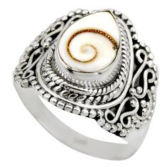 2.98cts natural white shiva eye 925 silver solitaire ring size 6.5 r52493