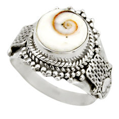 4.78cts natural white shiva eye 925 silver solitaire ring size 6.5 r52498