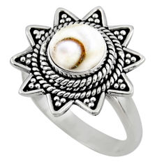 2.81cts natural white shiva eye 925 silver solitaire ring size 7.5 r54326