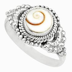 2.72cts natural white shiva eye 925 silver solitaire ring size 8.5 r76769