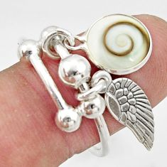 5.15cts natural white shiva eye 925 sterling silver ring jewelry size 9 c10020