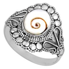 3.89cts natural white shiva eye oval 925 silver solitaire ring size 10.5 r61086