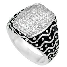 Natural white topaz 925 sterling silver mens ring jewelry size 7.5 c11370