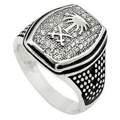 Natural white topaz 925 sterling silver mens ring jewelry size 8 c11368