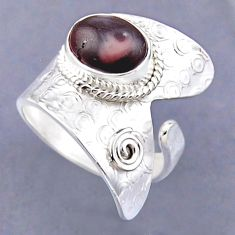 4.51cts natural wild horse magnesite 925 silver adjustable ring size 8 r54832