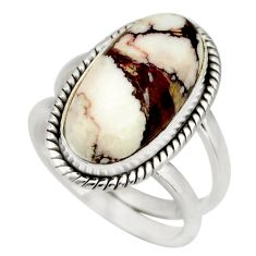 6.32cts natural wild horse magnesite 925 silver solitaire ring size 6.5 r27207