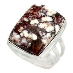 17.69cts natural wild horse magnesite 925 silver solitaire ring size 8 d47447