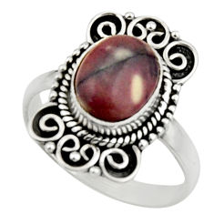 4.22cts natural wild horse magnesite 925 silver solitaire ring size 8 r52598