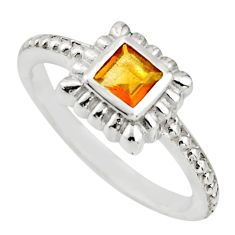 0.54cts natural yellow citrine 925 silver solitaire ring jewelry size 5.5 r25457