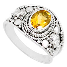 2.10cts natural yellow citrine 925 silver solitaire ring jewelry size 9 r68994