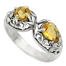 2.52cts natural yellow citrine 925 sterling silver ring jewelry size 7.5 r40889