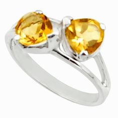 2.30cts natural yellow citrine 925 sterling silver ring jewelry size 5.5 r45750