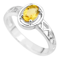 1.47cts natural yellow citrine 925 sterling silver ring jewelry size 8 t8015