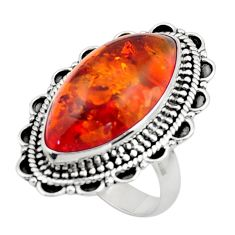 5.80cts orange amber 925 sterling silver ring jewelry size 6 r44724