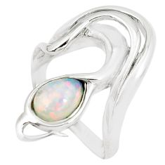 2.59cts pink australian opal (lab) sterling silver ring size 7.5 a89231 c24417