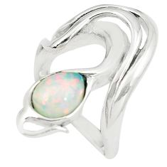 2.50cts pink australian opal (lab) sterling silver ring size 7.5 a89233 c24420