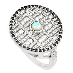 1.88cts pink australian opal (lab) topaz 925 silver ring size 9.5 a95957 c24643