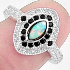 3.32cts pink australian opal (lab) topaz 925 silver ring size 6 a95836 c24603
