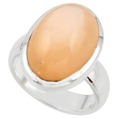 10.74cts pink natural ceylon moonstone 925 sterling silver ring size 7.5 r42832