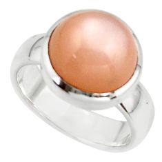 6.16cts pink natural ceylon moonstone 925 sterling silver ring size 6.5 r42834
