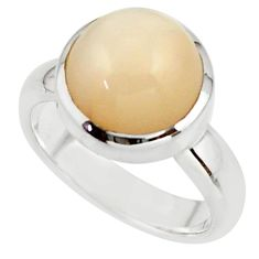 5.82cts pink natural ceylon moonstone 925 sterling silver ring size 6 r42821