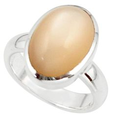 6.38cts pink natural ceylon moonstone 925 sterling silver ring size 6 r42825