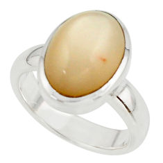 5.17cts pink natural ceylon moonstone 925 sterling silver ring size 6 r42826