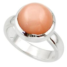 5.70cts pink natural ceylon moonstone 925 sterling silver ring size 6 r42833