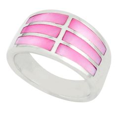 Pink pearl 925 sterling silver ring jewelry size 5.5 c21985