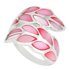 Pink pearl enamel 925 sterling silver ring jewelry size 7 a67601 c13056