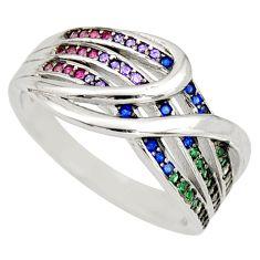2.35cts purple amethyst quartz ruby (lab) 925 sterling silver ring size 7 c9152
