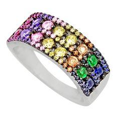 2.85cts purple amethyst quartz ruby (lab) 925 sterling silver ring size 7 c9372