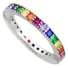 1.96cts purple amethyst quartz sapphire (lab) 925 silver ring size 6.5 c10042
