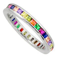 2.21cts purple amethyst quartz sapphire (lab) 925 silver ring size 8.5 c10073