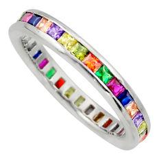 2.21cts purple amethyst quartz sapphire (lab) 925 silver ring size 8.5 c10076