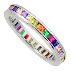 2.29cts purple amethyst quartz sapphire (lab) 925 silver ring size 8.5 c10112