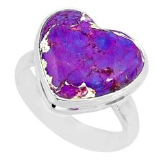 7.97cts purple copper turquoise 925 silver solitaire ring jewelry size 6 r84685